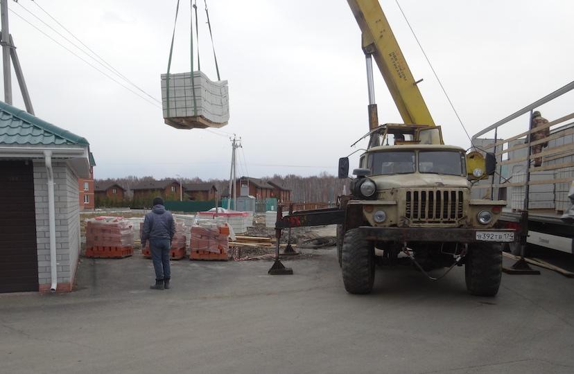 Начало строительства гаражного бокса № 14, апрель 2021 г.